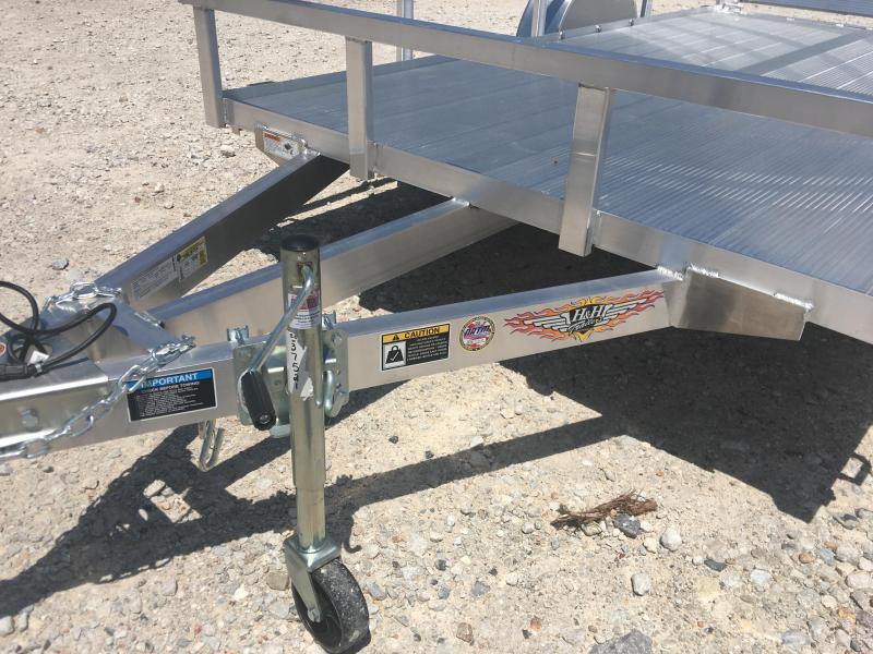 2020 H and H Trailer 76x12 Aluminum Floor Bi Fold Gate Utility Trailer Utility Trailer