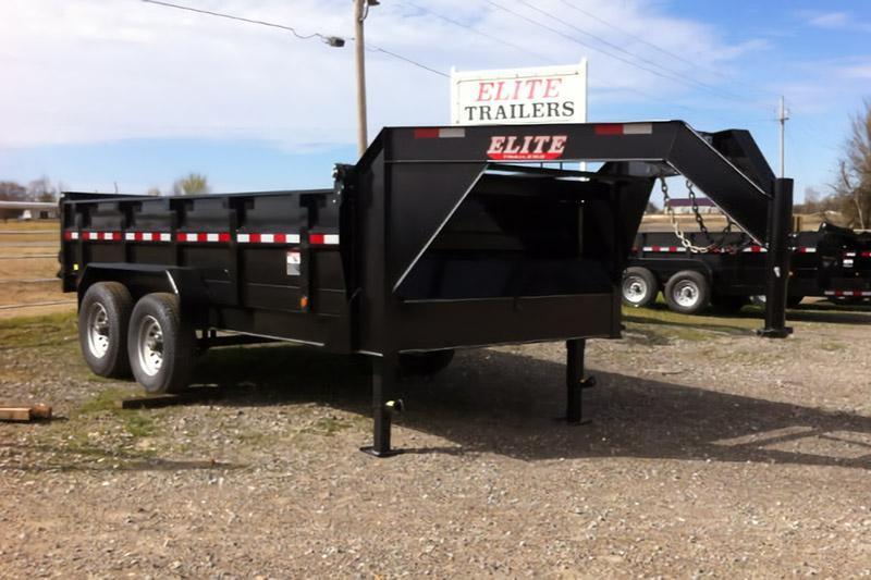 Elite 7 x 16 14K Gooseneck Dump Trailer