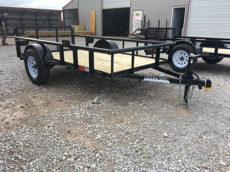 2020 Ozark 5x10 Pipe Top Utility Trailer w/ Brake Utility Trailer