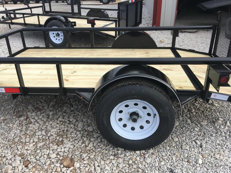 2020 Ozark 5x10 Pipe Top Utility Trailer w/ Brake Utility Trailer
