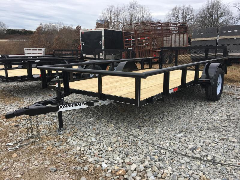2020 Ozark 76x14 Pipe Top Utility Trailer