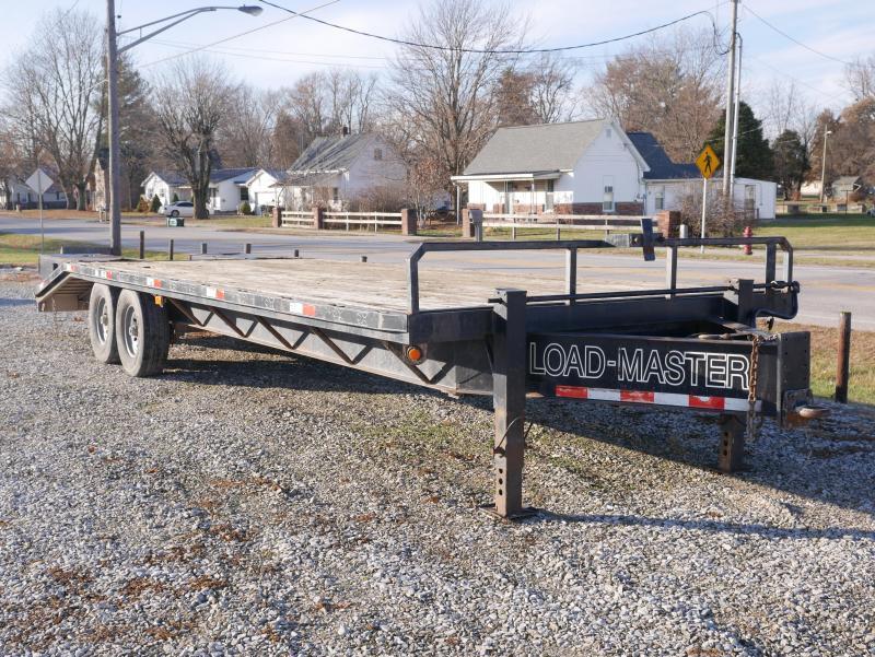 2006 Loadmaster Trailer Company 20+5 Deck-Over Flat Bed Equipment Trailer