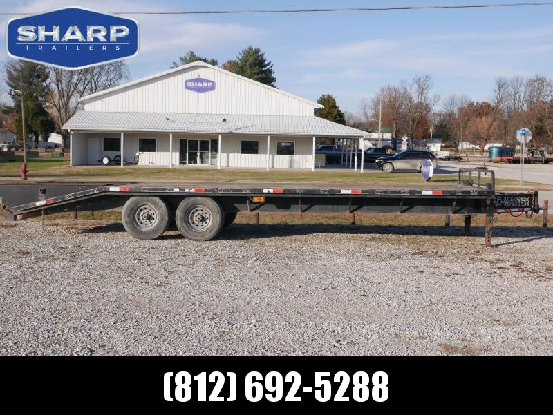 2006 Loadmaster Trailer Company 20+5 Deck-Over Flat Bed Equipment Trailer