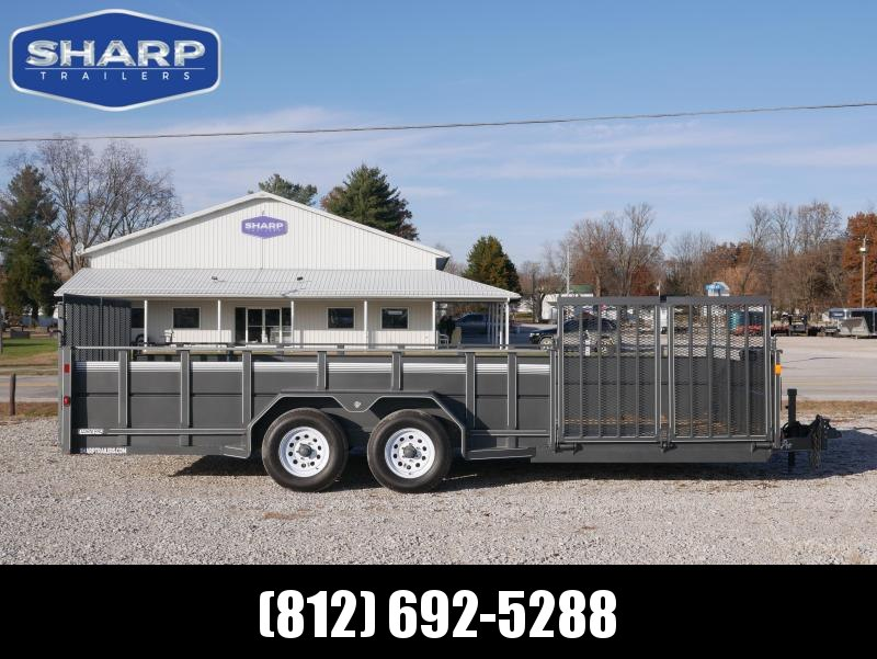 2018 CornPro UT-20 L Side Package Side Ramp Utility Trailer