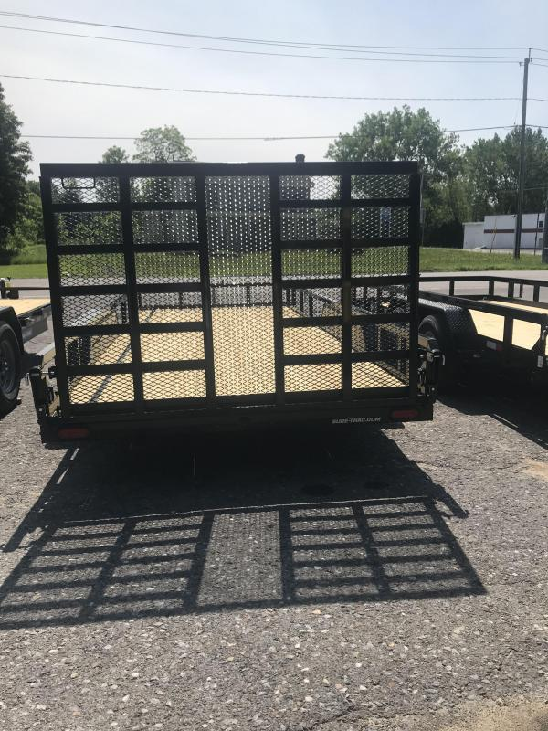 2020 Sure-Trac 7 X 18 Tube Top Utility  10K Tandem OPTION....DOUBLE RUNG LADDER GATE4 D RINGS WITH STEEL GUSSET