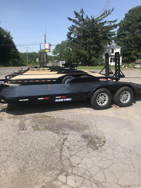 2019 Sure-Trac 7 x 20 Steel Deck Car Hauler  10kOPTION:4 EXTRA D RINGS
