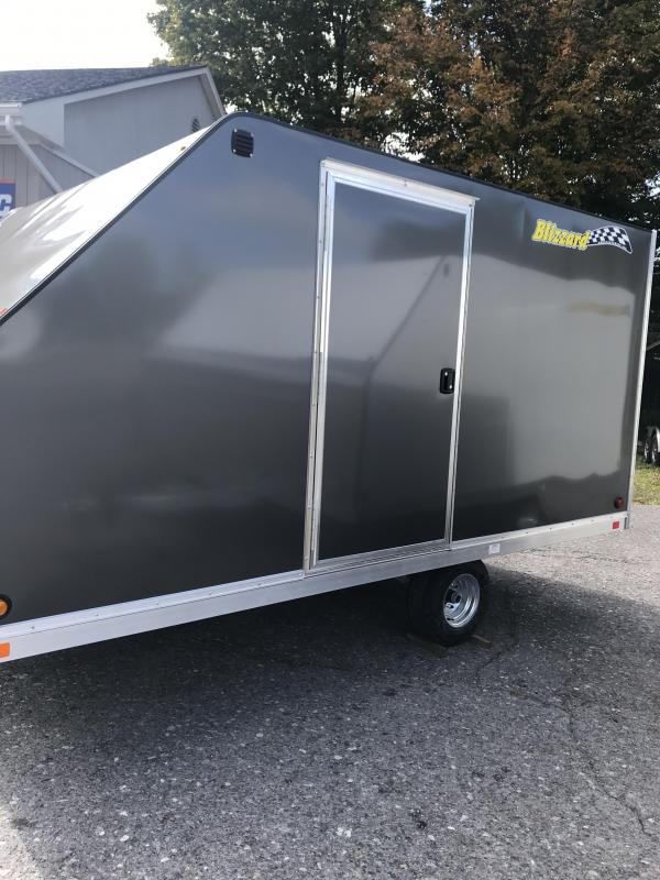 2020 CHARCOAL Blizzard Manufacturing nor-easter 12 Snowmobile Trailer OPTION: SIDE ACCESS DOOR