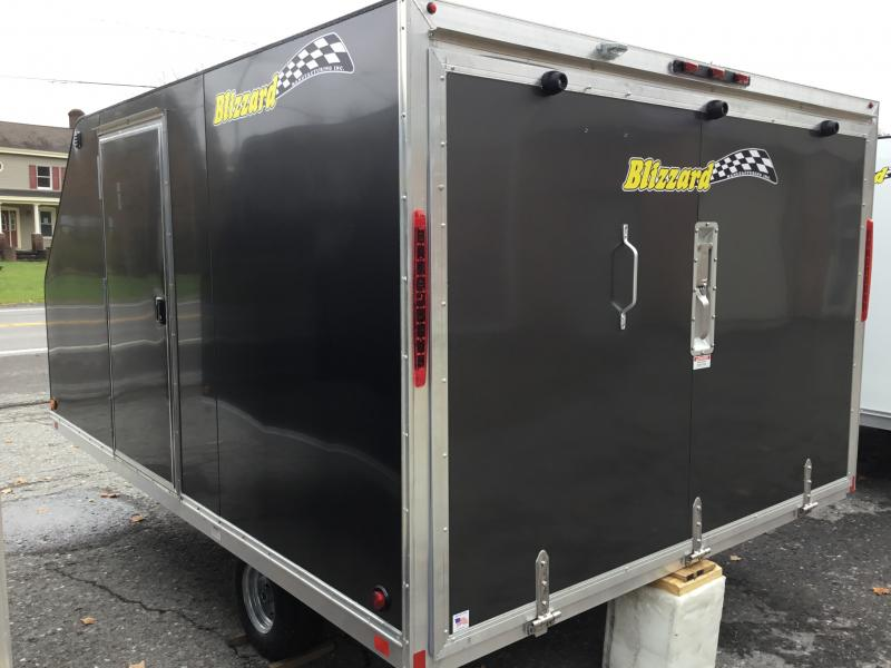 2020 Blizzard Manufacturing Black Nor-Easter 12 Snowmobile Trailer   OPTION:  SIDE ACCESS DOOR