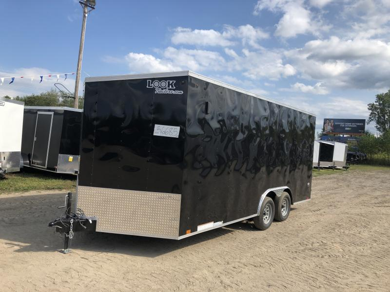 Look Trailers 8.5x18 7k Black Enclosed Car Hauler w/ 7ft Interior Height