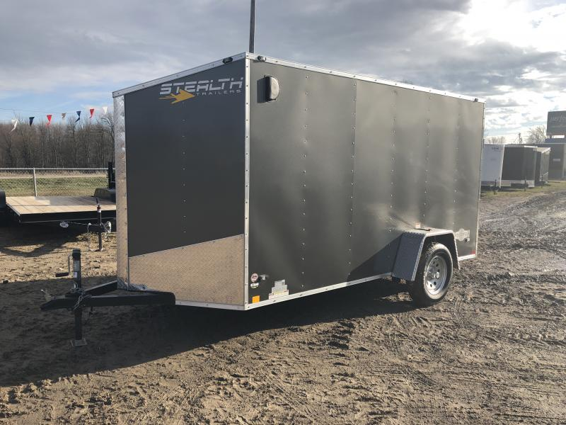 Stealth Trailers Charcoal 6x12 V-Nose Ramp Door Enclosed Cargo Trailer