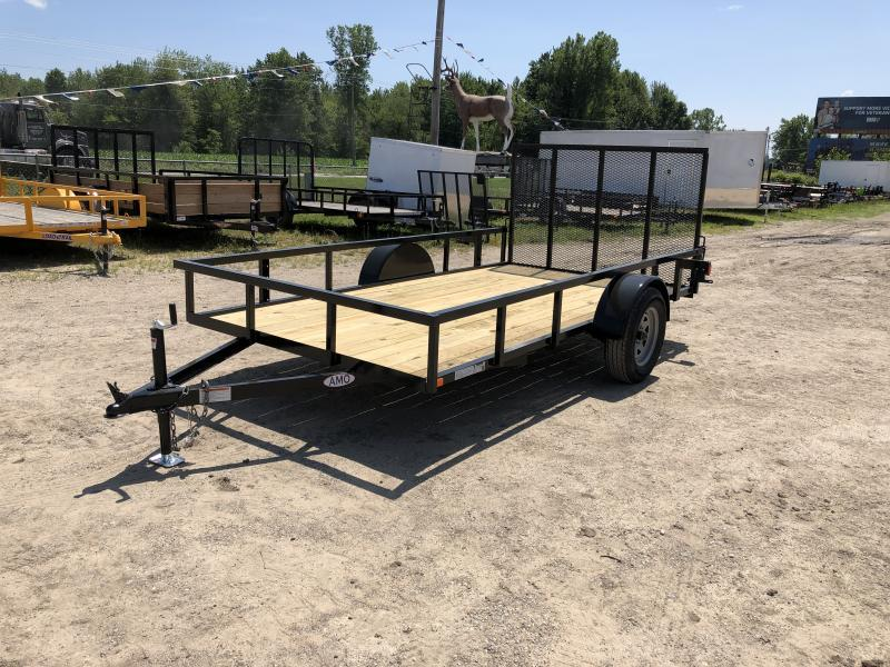 6.4 x 12 A.M.O. Low Side Tube Top Landscape Trailer