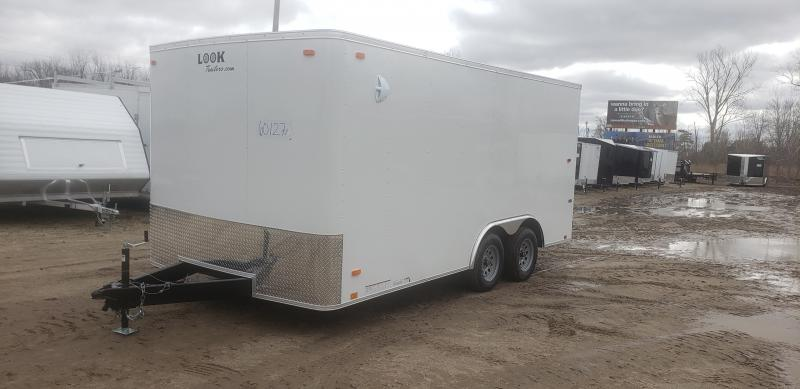 Look 8.5x16 7K White Enclosed Car Hauler