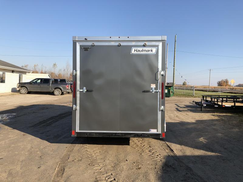 Haulmark Transport 7x16 V-Nose Ramp Door Enclosed Trailer Charcoal 7ft Interior