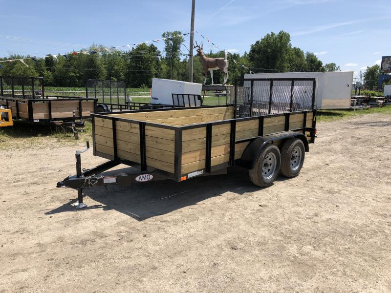 6.4 x 12 A.M.O. Woodsided Trailer TA2