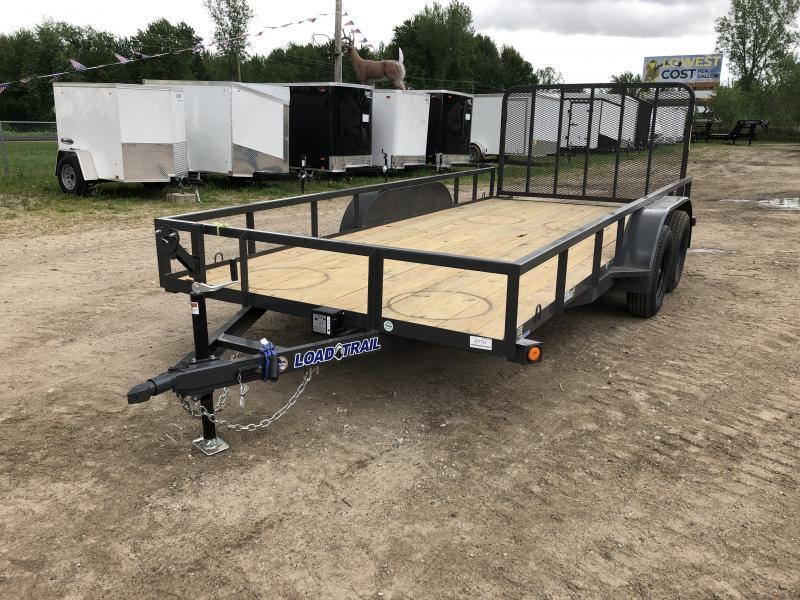Load Trail 83 x 16ft Gray Tandem Axle Utility Trailer