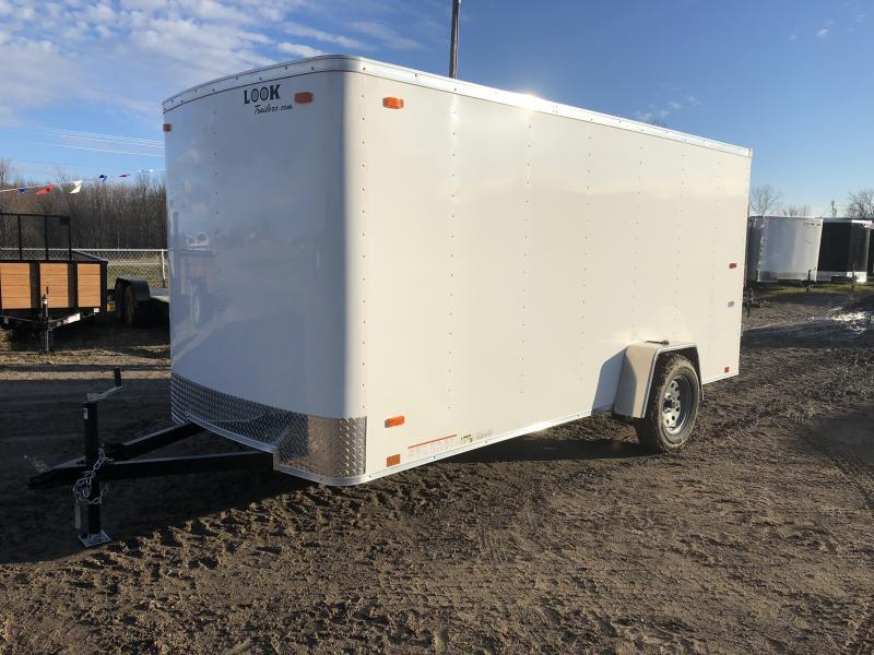 Look Trailers 6x14 Ramp Door Enclosed Cargo Trailer White