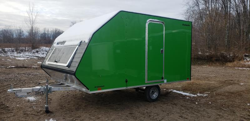 Lightning Trailers 8x11 Avalanche Snowmobile Trailer Green
