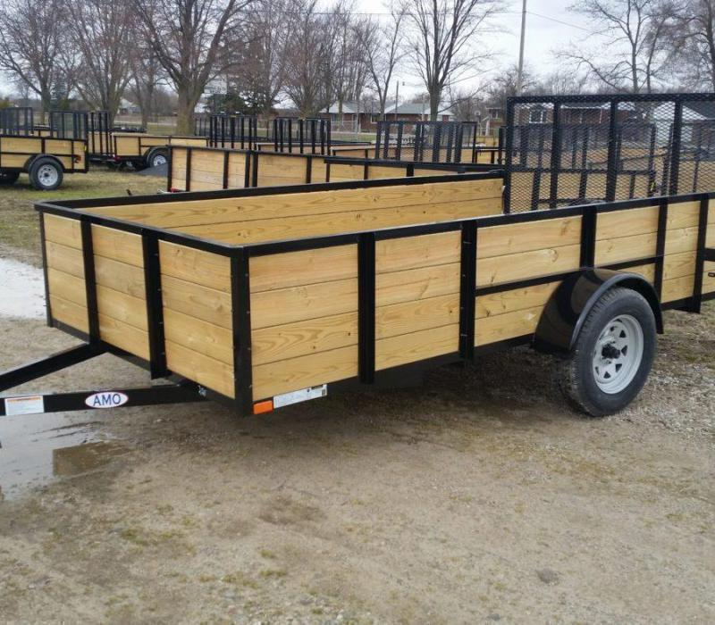 6.4 x 12 A.M.O. High Side Landscape Trailer