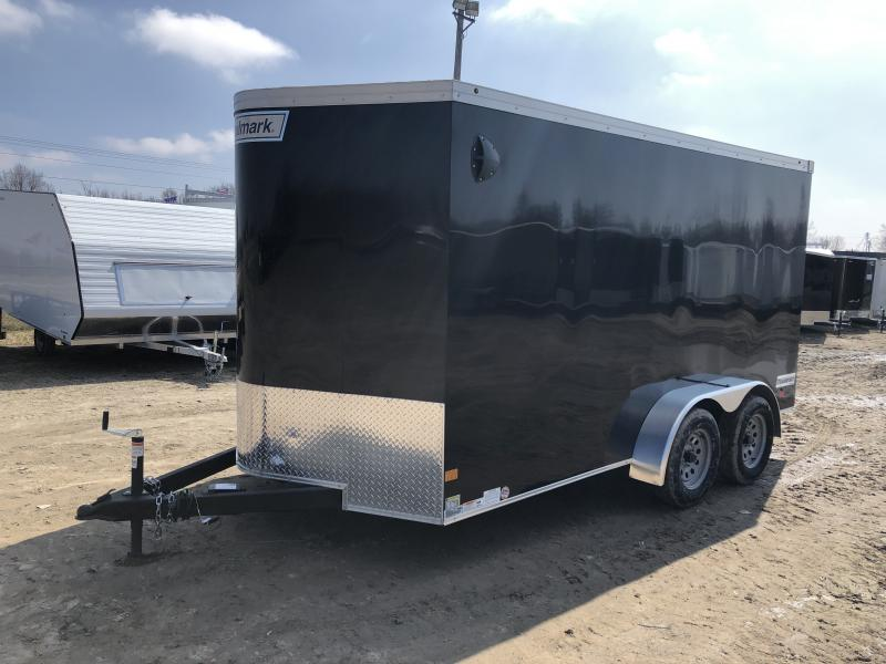 Haulmark Transport 7x14 V-Nose Ramp Door Enclosed Trailer Black 6'6