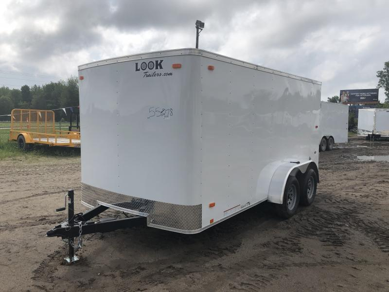 Look Trailers 7x14 Barn Door Enclosed Cargo Trailer White