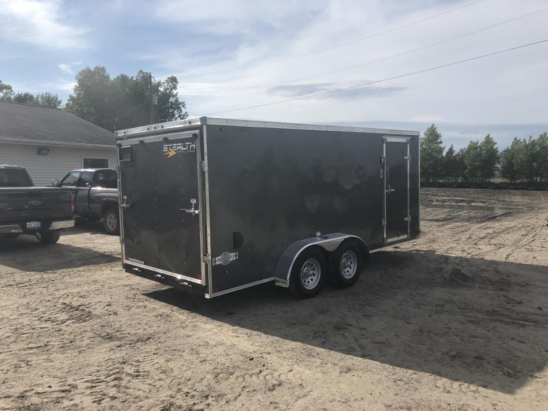 Stealth Trailers Charcoal 7X16 V-Nose Ramp Door Enclosed Cargo Trailer