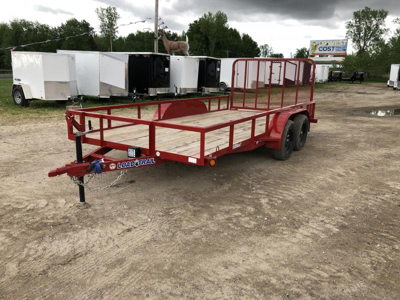 Load Trail 83 x 16ft Red Tandem Axle Utility Trailer