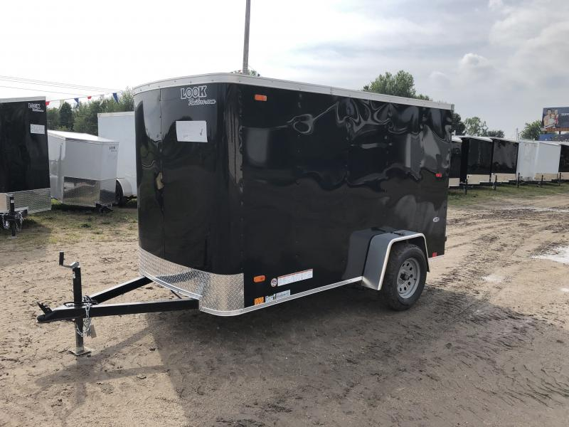 Look Trailers 5x10 Barn Door Enclosed  Trailer Black