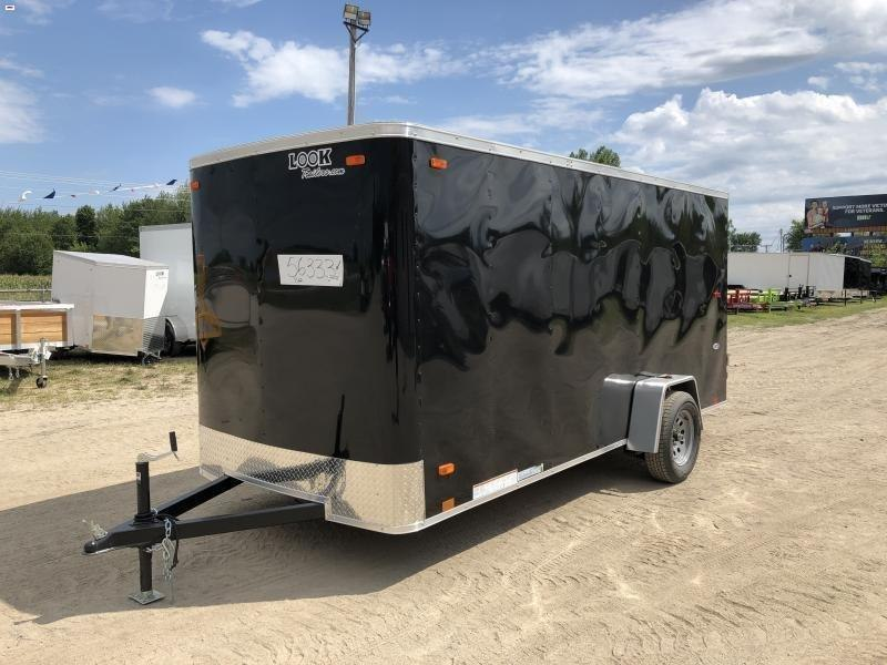 Look Trailers 6x14 Ramp Door Enclosed Cargo Trailer Black