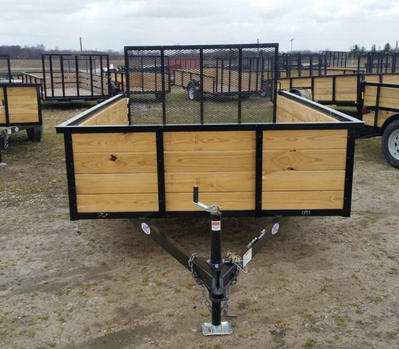 6.4 x 14 A.M.O. High Side Landscape Trailer