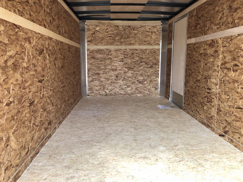 Look Trailers 7x14 Barn Door Enclosed Cargo Trailer Charcoal