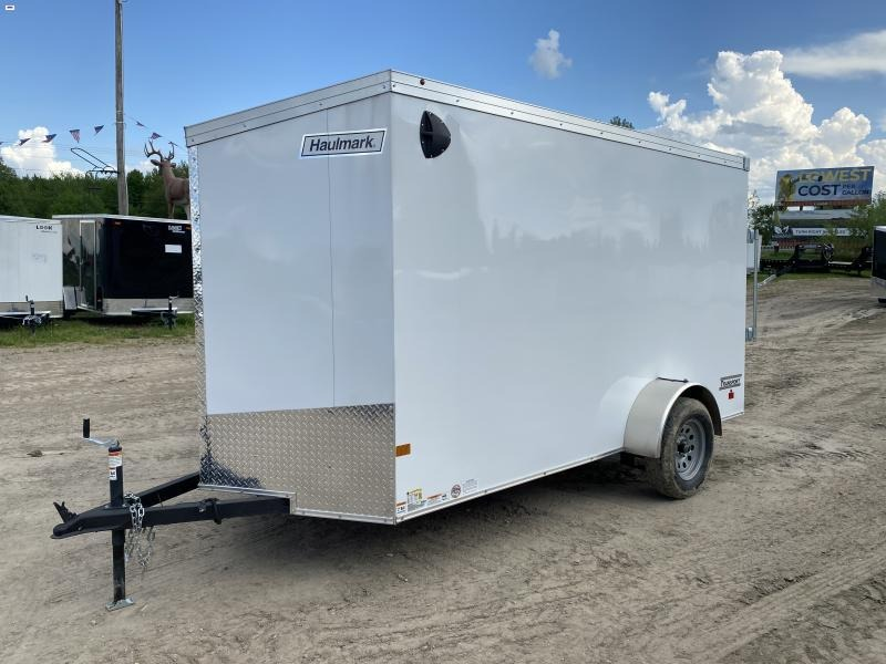 Haulmark Transport V- Nose Ramp Door Enclosed Trailer White 6ft 6in Interior
