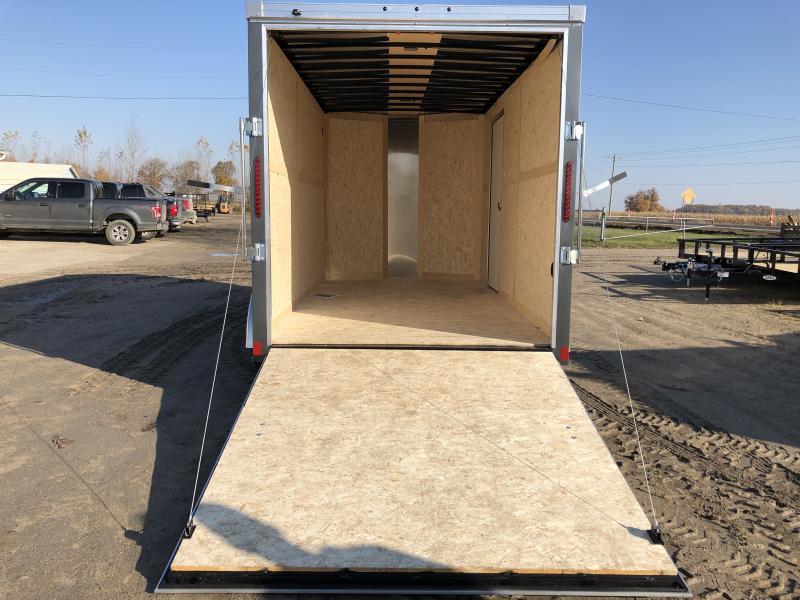 Haulmark Transport 7x14 V-Nose Ramp Door Enclosed Trailer Charcoal 7ft Interior