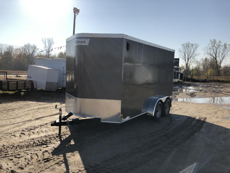 Haulmark Transport 7x14 V-Nose Ramp Door Enclosed Trailer Charcoal 7ft Interior