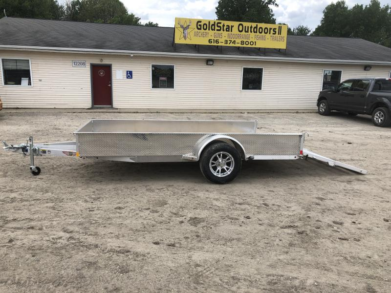 H and H 82x12 Solid Side Aluminum Utility Trailer
