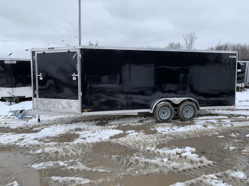 New 7x23 3-Place Enclosed Snowmobile Trailer Snowmobile Trailer