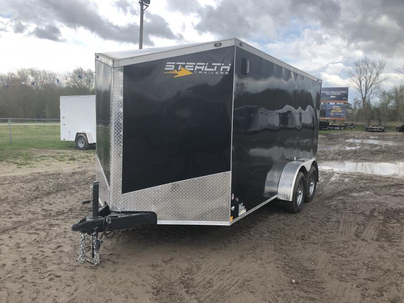 Stealth Trailers Titan 7X14 HD V-Nose Ramp Enclosed Cargo Trailer