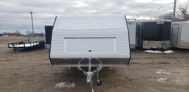 Lightning Trailers 8x11 Avalanche Snowmobile Trailer White