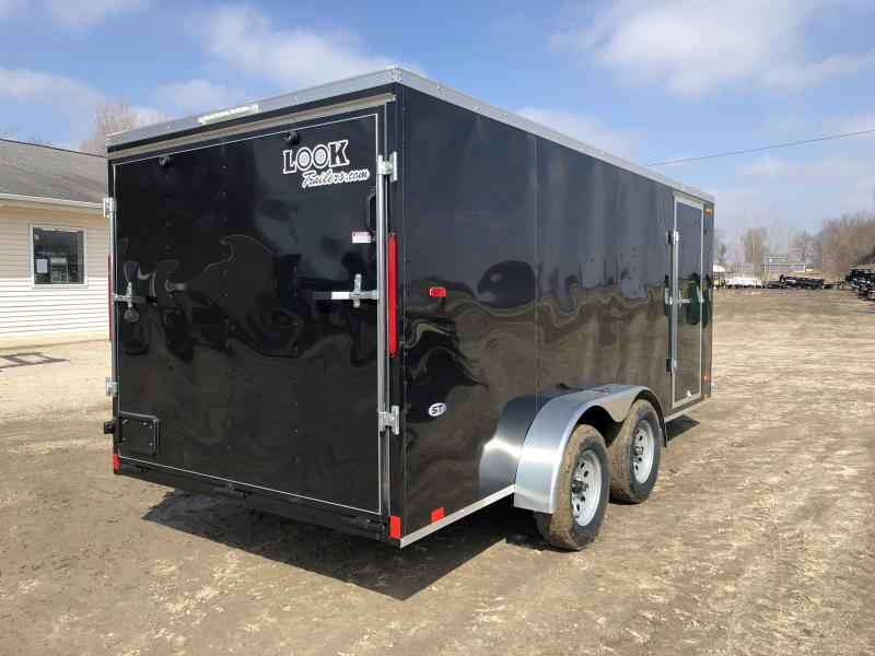 Look Trailers 7x16 Ramp Door Enclosed Cargo Trailer Black