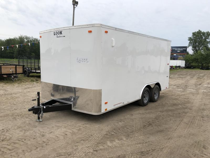 Look Trailers 8.5X16 7K Car / Racing Trailer White