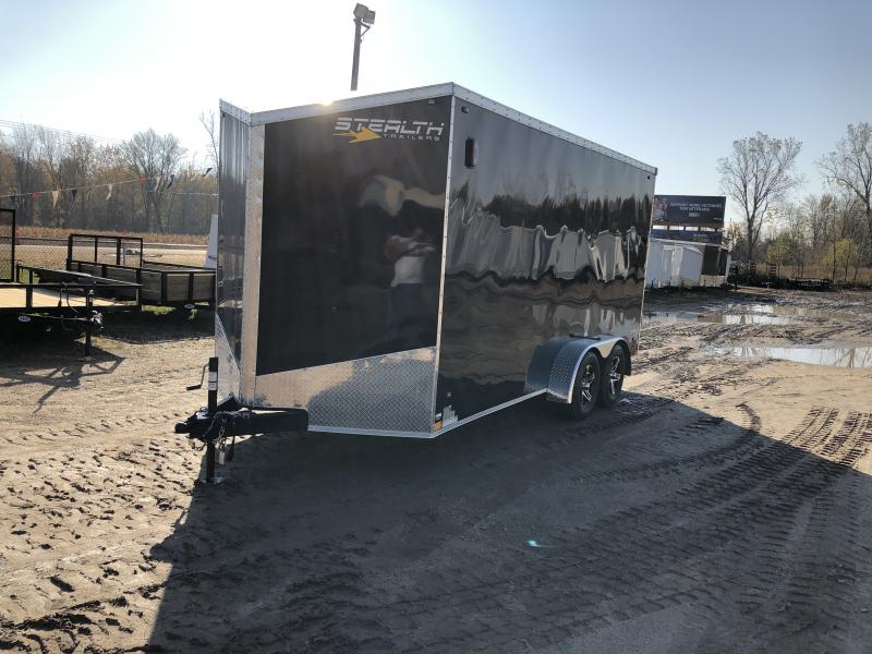 Stealth Trailers Titan Black 7X16 +12
