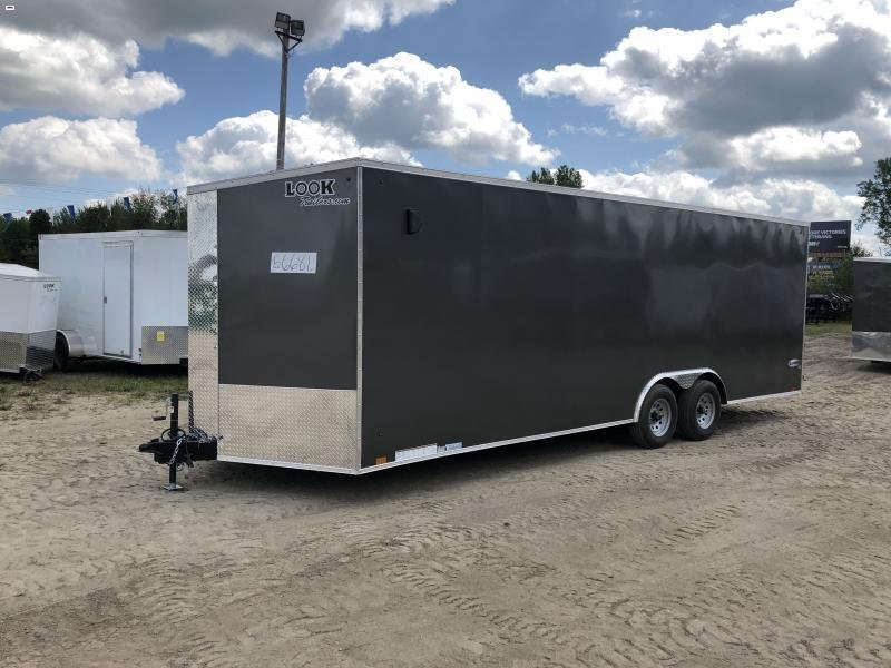 Look Trailers 8.5x24 10k Charcoal Enclosed Car Hauler w/ 7ft Interior Height