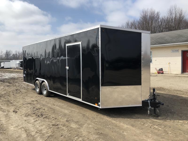 Look Trailers 8.5x24 10k Black Enclosed Car Hauler w/ 7ft Interior Height