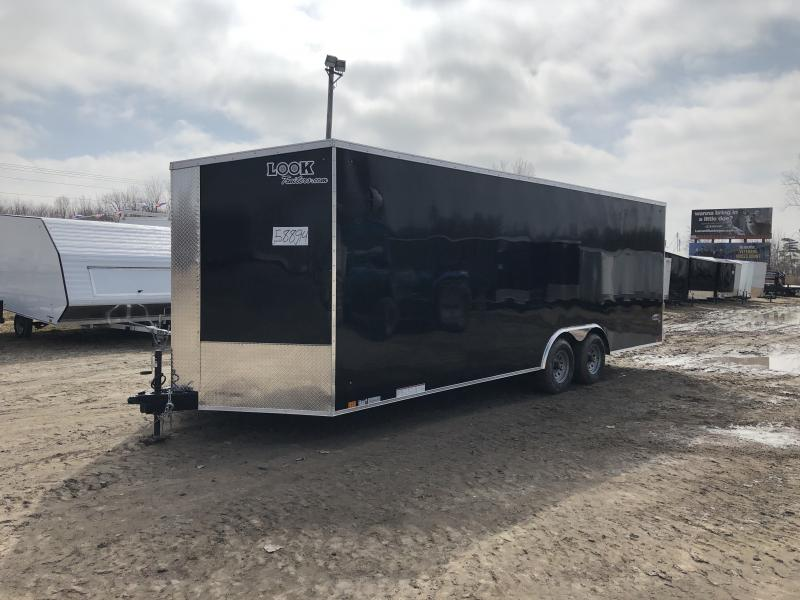 Look Trailers 8.5x24 10k Black Enclosed Car Hauler w/ 7ft Interior Height