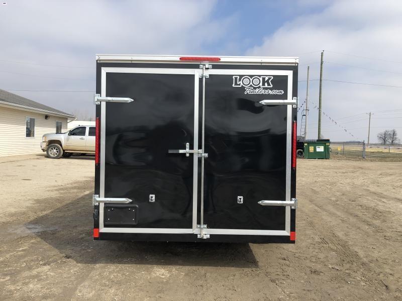 Look Trailers Black 7x16 Barn Door Enclosed Cargo Trailer