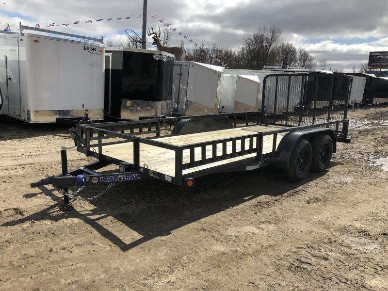 Load Trail 83 x 16ft Gray ATV Tandem Axle Utility Trailer