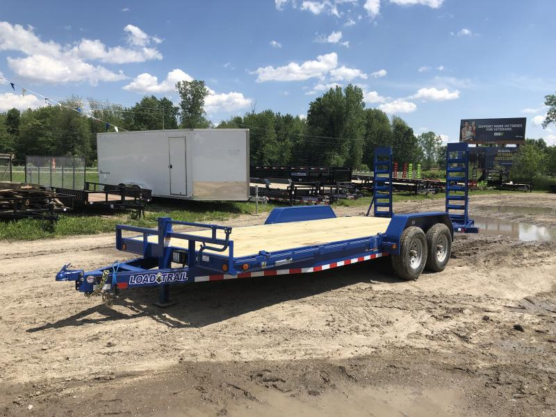 Load Trail 20ft 14K Equipment Trailer W/Rub Rail Blue