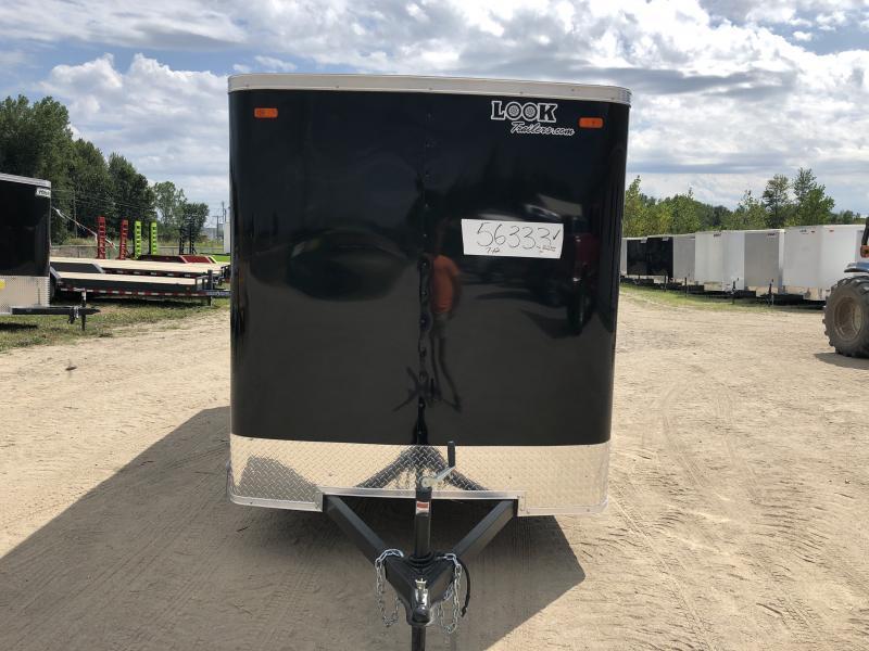 Look Trailers 6x14 Ramp Door Enclosed Cargo Trailer Black