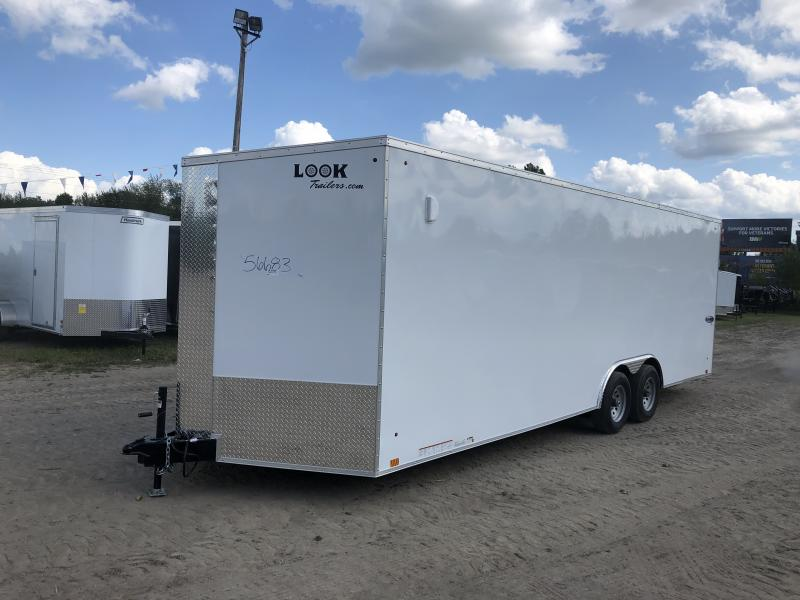 Look Trailers 8.5x24 10k White Enclosed Car Hauler w/ 7ft Interior Height
