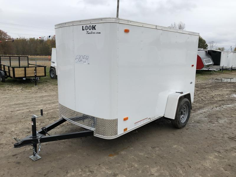 Look Trailers 5x10 Ramp Door Enclosed  Trailer White