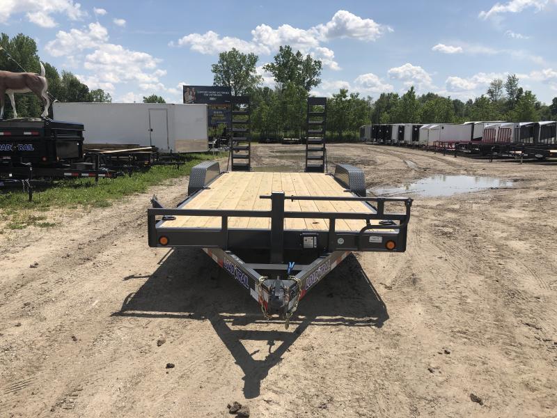 Load Trail 20ft 14K Equipment Trailer W/Rub Rail Gray